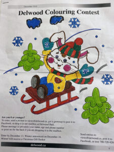 Delwood Colouring Contest Winner